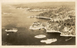 Aerial view of Pender Harbor, B.C.
