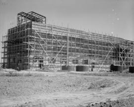 West end of pulp warehouse showing first lift stripped