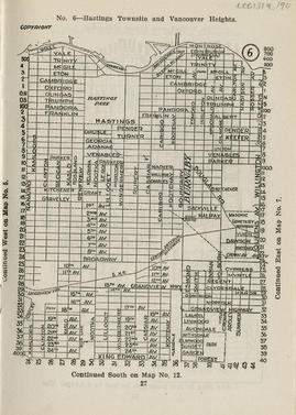 Sectional map and street directory of Vancouver, British Columbia : [Willington Avenue to Wall St...