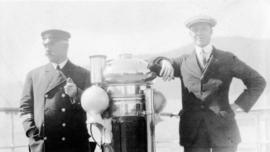[Unidentified man and Captain of the Camosun]