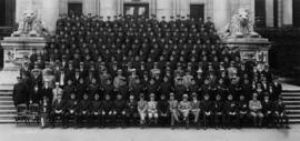 [Group portrait of the Vancouver Police Department taken on Court House steps]