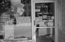 Gunn's Travel Ltd. storefront on Main Street