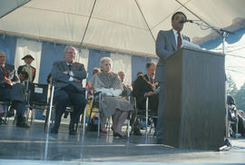 Carmine Falcone speaking at Jubilee Fountain re-dedication