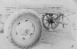 Cane cars etc., pressed steel, cart wheel
