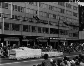 Burnaby Junior Chamber of Commerce float in 1959 P.N.E. Opening Day Parade
