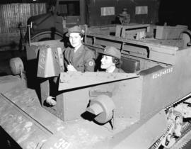 A.R.P. [Red Cross workers in armoured vehicle]