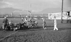 [Football game between Vancouver College and Blaine at Athletic Park, 5th and Hemlock]