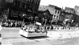 [The Sons of England float in the Dominion Day Parade]