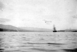 [View of a tallship in Burrard Inlet]