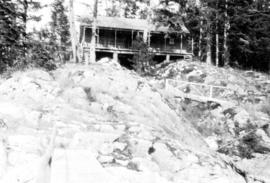 [View of cabin, Stuart Island, B.C.]