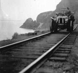 [The Glidden car on the C.P.R. line]