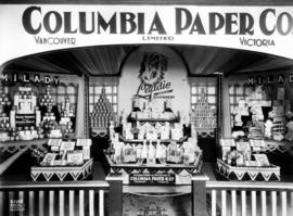 Columbia Paper Co. display of Milady and Laddie products