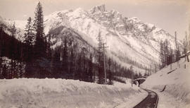 Mount Hermit, C.P.R., Selkirks, Midwinter, Height 9680 feet