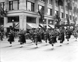 Military, church parade on Georgia Street