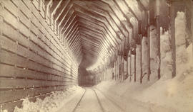 Interior of  Snow Shed, C.P.R., Selkirks