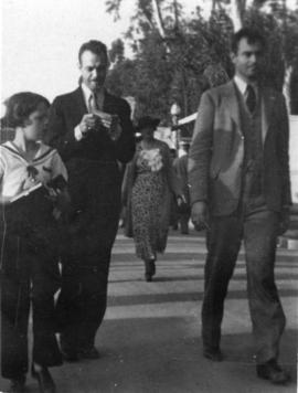 [Mary Louise, Ted and Ken Taylor at the] San Diego Exposition