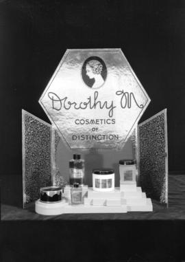 [Photograph of products for Pratt's Beauty Supply catalogue]
