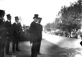 Duke [of Connaught] and Assistant Fire Chief Thompson