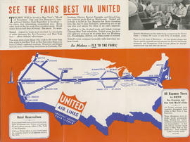 Shortest - fastest : fair to fair : United Air Lines : side 2
