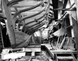 Adrianna, a 38-foot sailing vessel being built by Gordon and Bianca Barns