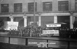 B.C. Miners Liberation League tag day outside Labour Temple