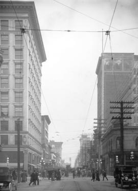 [View of Pender Street, looking east from Granville Street]