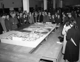 Bridge model at U.B.C. 'Open House' 1952.