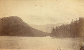 [View of Harrison River near Harrison Hot Springs]