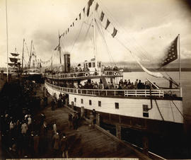 "Embarkation of His Excellency Lord Stanley and Party on S.S. ""Premier"""