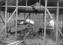 Two boats, Beatrice and 5-15 in dry dock