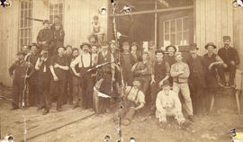 [The first C.P.R. roundhouse and machine shop crew on Drake Street]