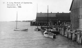 A Long Stretch of Canneries, Steveston, B.C.