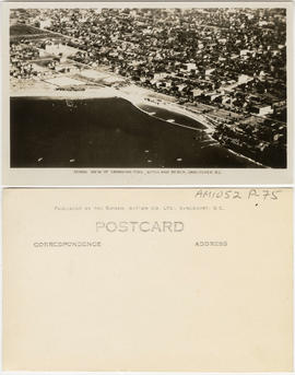 Aerial view of swimming pool, Kitsilano Beach, Vancouver, B.C.
