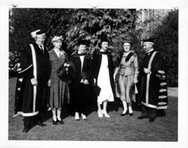 Susan MacKenzie, Mary Lett, and parents at University of British Columbia graduation