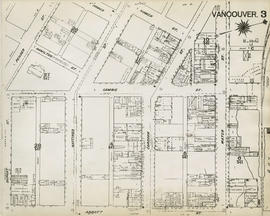 Plan of Vancouver, 1889 [fire map] : [Water Street to Homer Street to Dupont Street to Abbott Str...