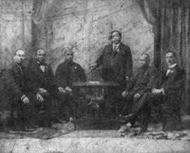 Group portrait of members of the Chinese Empire Reform Association, Vancouver