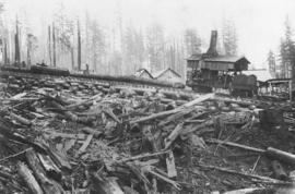 McNair Fraser logging camp [at] Hollyburn