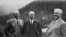 Commissioner, L.D. [Taylor and] Mayor [James Lyle] Telford at Seymour [Falls] Dam