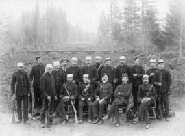 [British Columbia Rifle Association members at the Central Park Rifle Range for annual match]