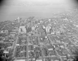 [Aerial view of downtown Vancouver]