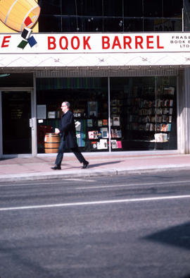 """The Book Barrel,"" Theatre Row, [at 891 Granville Street]"