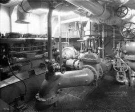 "[Engine room of fire boat ""J.H. Carlisle""]"