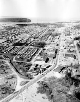 [Aerial view looking west of the] District of North Vancouver