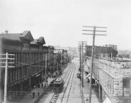 [View of Cordova Street looking west from Carrall Street]