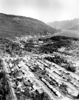 [Aerial view looking north-east of the] District of North Vancouver