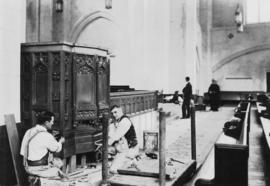 [Interior construction of  St. Andrew's Wesley United Church]