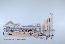 [Artist's rendering of] better access to waterfront