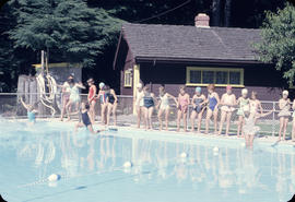 City, Capilano Park, opening swim at new pool
