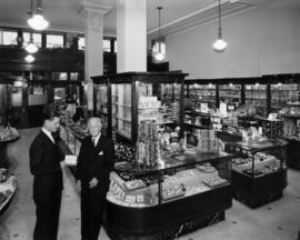 [Interior view of O.B. Allen store]