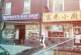 Storefronts in Toronto's old Chinatown